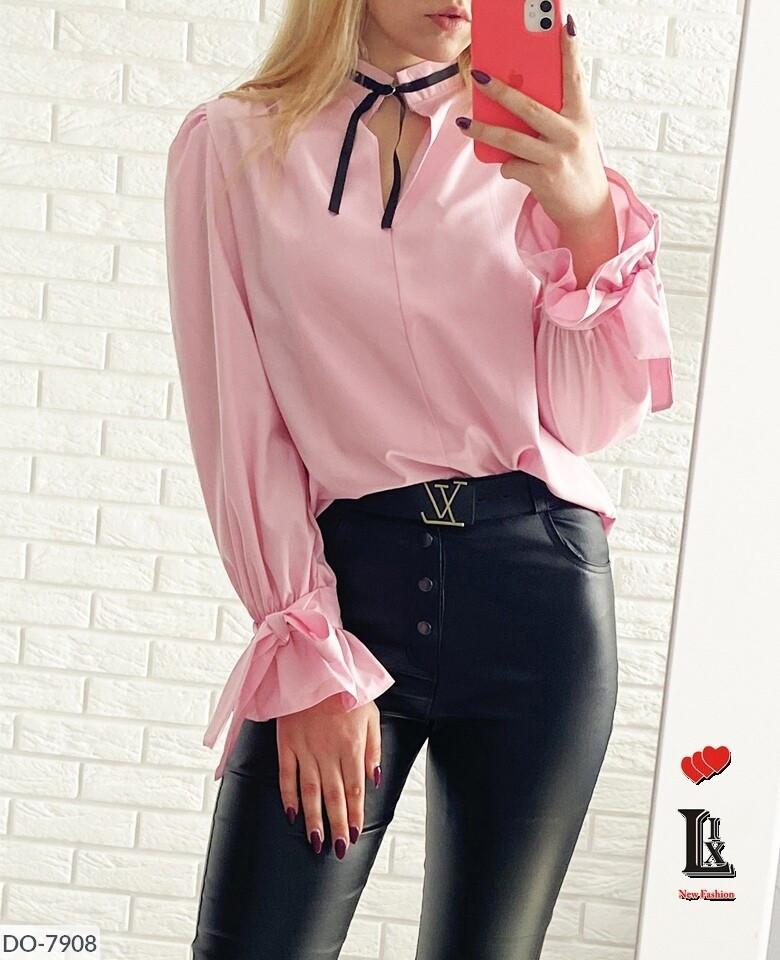 Женская блузка софт с завязками