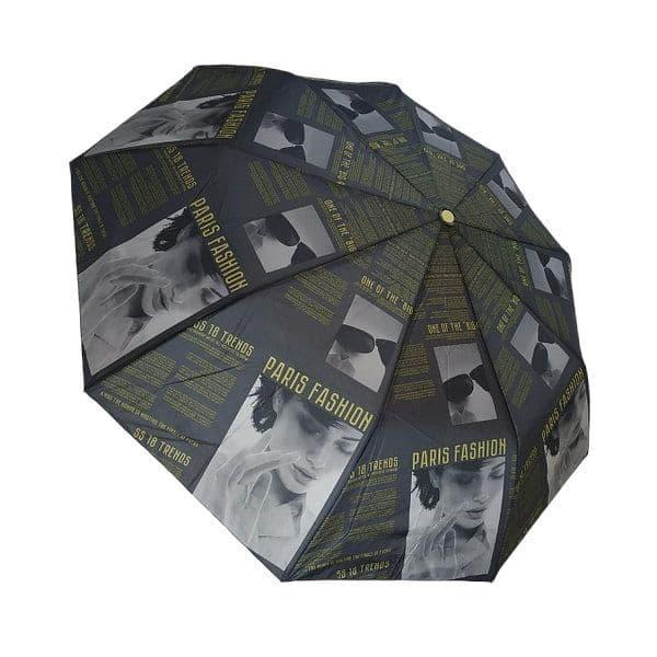 """Жіночий напівавтомат зонт """"Elegant"""" на 9 спиць від фірми """"Max"""", жовтий, 723-5"""