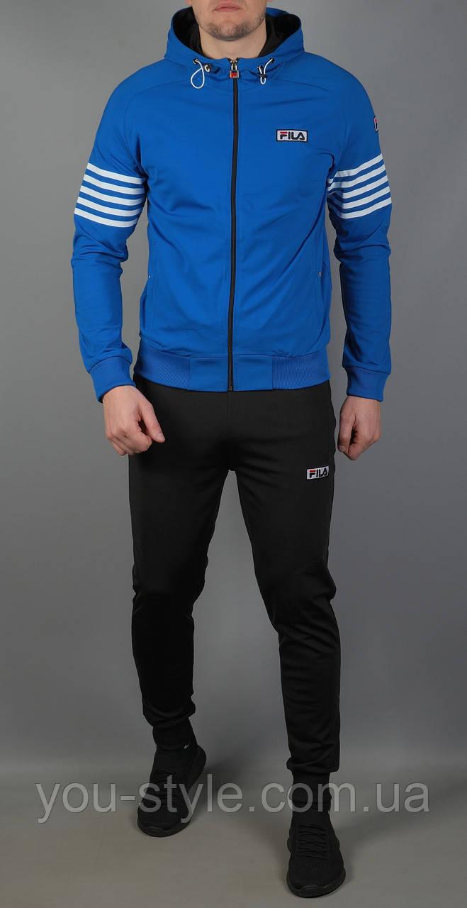 Мужской спортивный костюм Fila 5804 Голубой