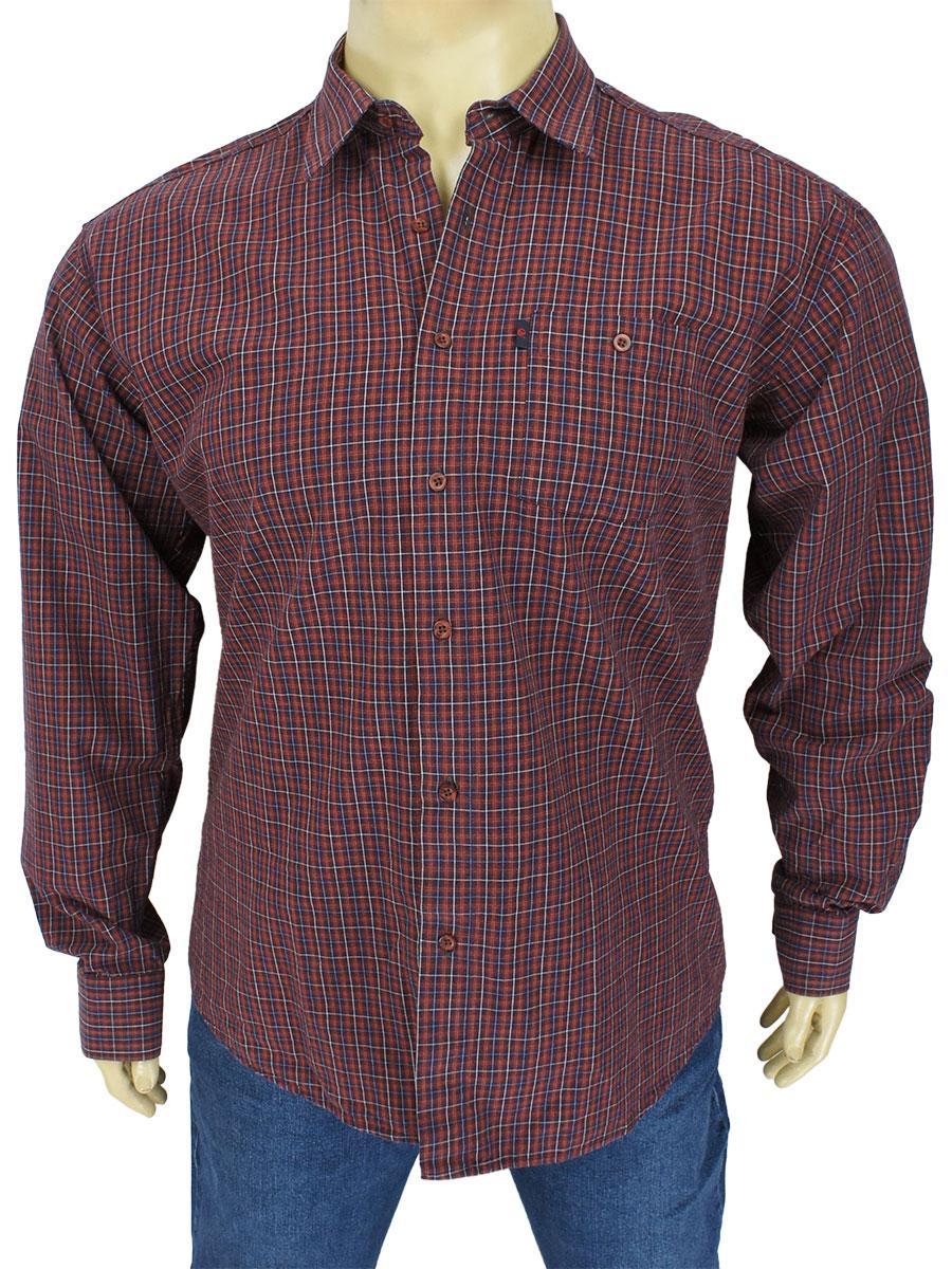 Бордова чоловіча сорочка Negredo 0340 BDI 12 батальних розмірів