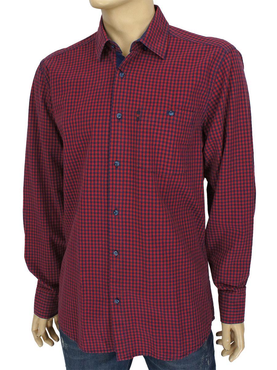 Стильна чоловіча сорочка прямого крою Negredo 0310 NDI 02