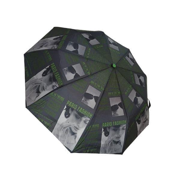 """Жіночий напівавтомат зонт """"Elegant"""" на 9 спиць від фірми """"Max"""", зелений, 723-1"""