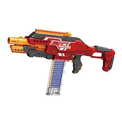 """Детский автомат (бластер) """"Blaze storm"""" на батарейках (красный) на 40 патронов"""