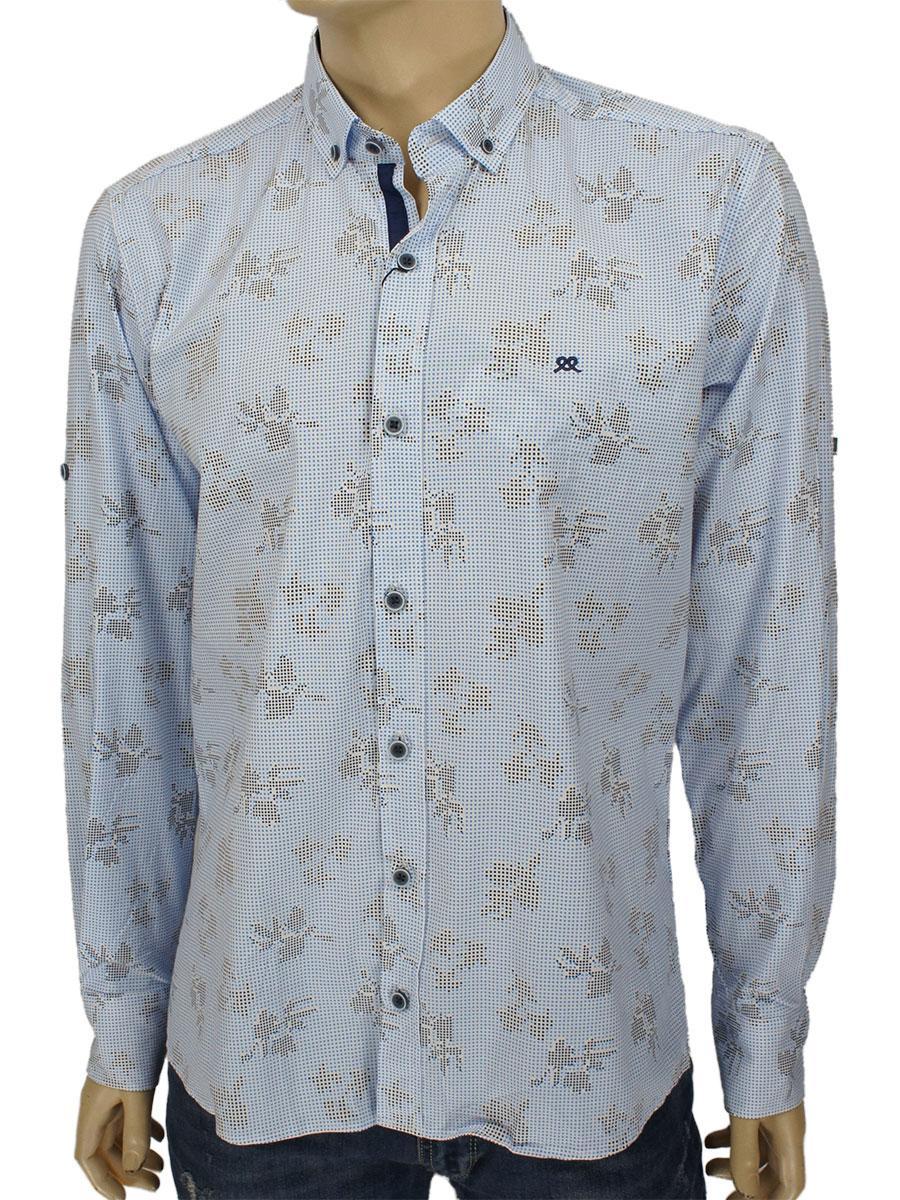 Приталена чоловіча сорочка Barcotti 0085 ND 03