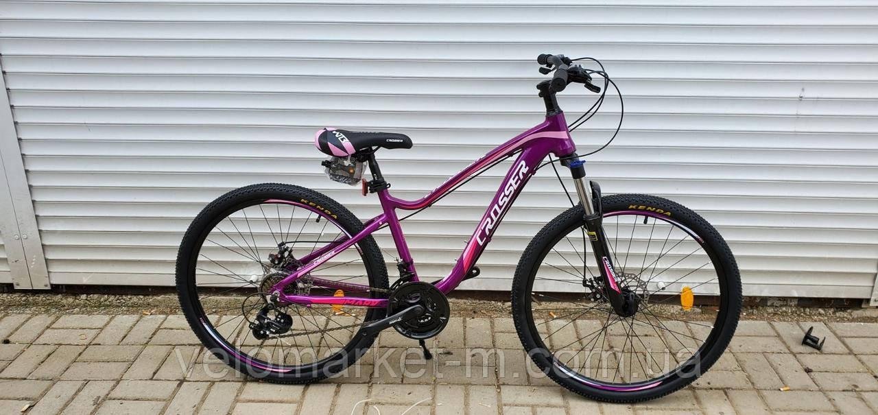 """Велосипед 26"""" Crosser Mary 15"""" пурпурный"""