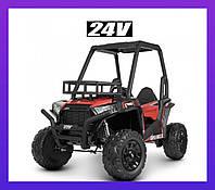 Детский электромобиль ДЖИП JS360EBLR-3 (24В) Красная Багги для детей 2 Мотора