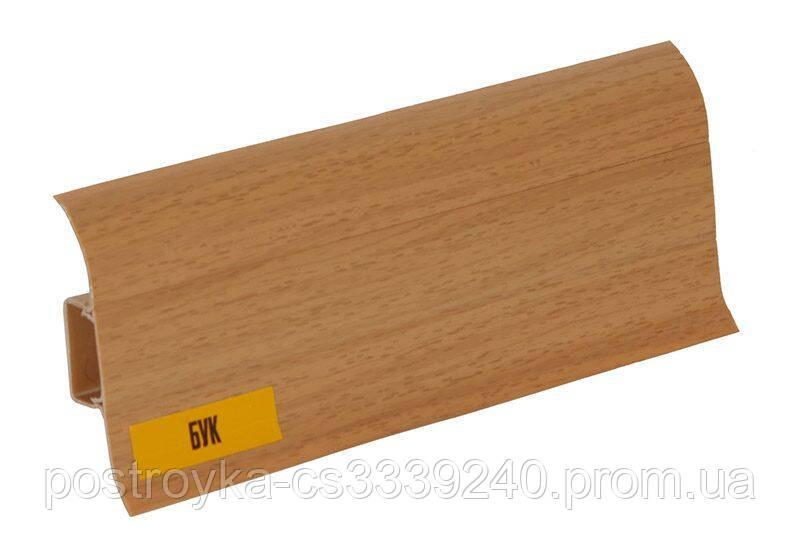 Плінтус підлоговий пластиковий Ideal (Ідеал) Комфорт 231 Бук