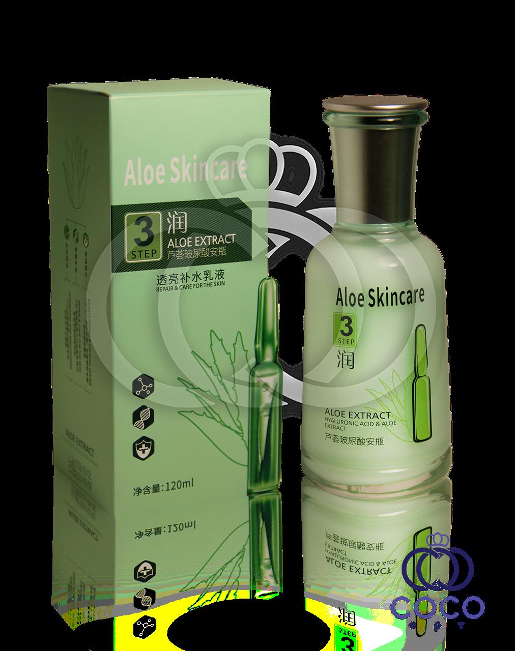 Емульсія для обличчя з гіалуронової кислотою і алое Aloe Skincare Hyaluronic Acid & Aloe Extract Emultion Step 3