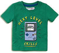 Зеленая детская футболка для мальчика 1-8 лет, 74-128 см Minoti, 74-80 см