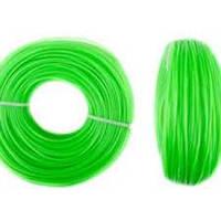 Волосінь мотокоси Ø1,6mm, 100 метрів зірка, зелена