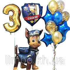 Композиция шаров на день рождения в стиле Щенячий патруль