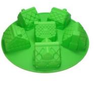 Формы и противень для выпечки (силикон) домики FRICO FRU-899, 26x6 см.
