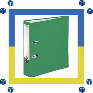 Папка - регистратор (сегрегатор) А4/75 Delta (зеленая-односторонняя), фото 2