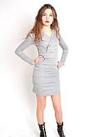 Молодежное платье приталенное с классическим воротником