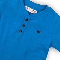 Синяя детская футболка для малыша 9-12 мес, 74-80 см