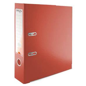 Папка - регистратор (сегрегатор) А4/75 Delta (красная-односторонняя), фото 2