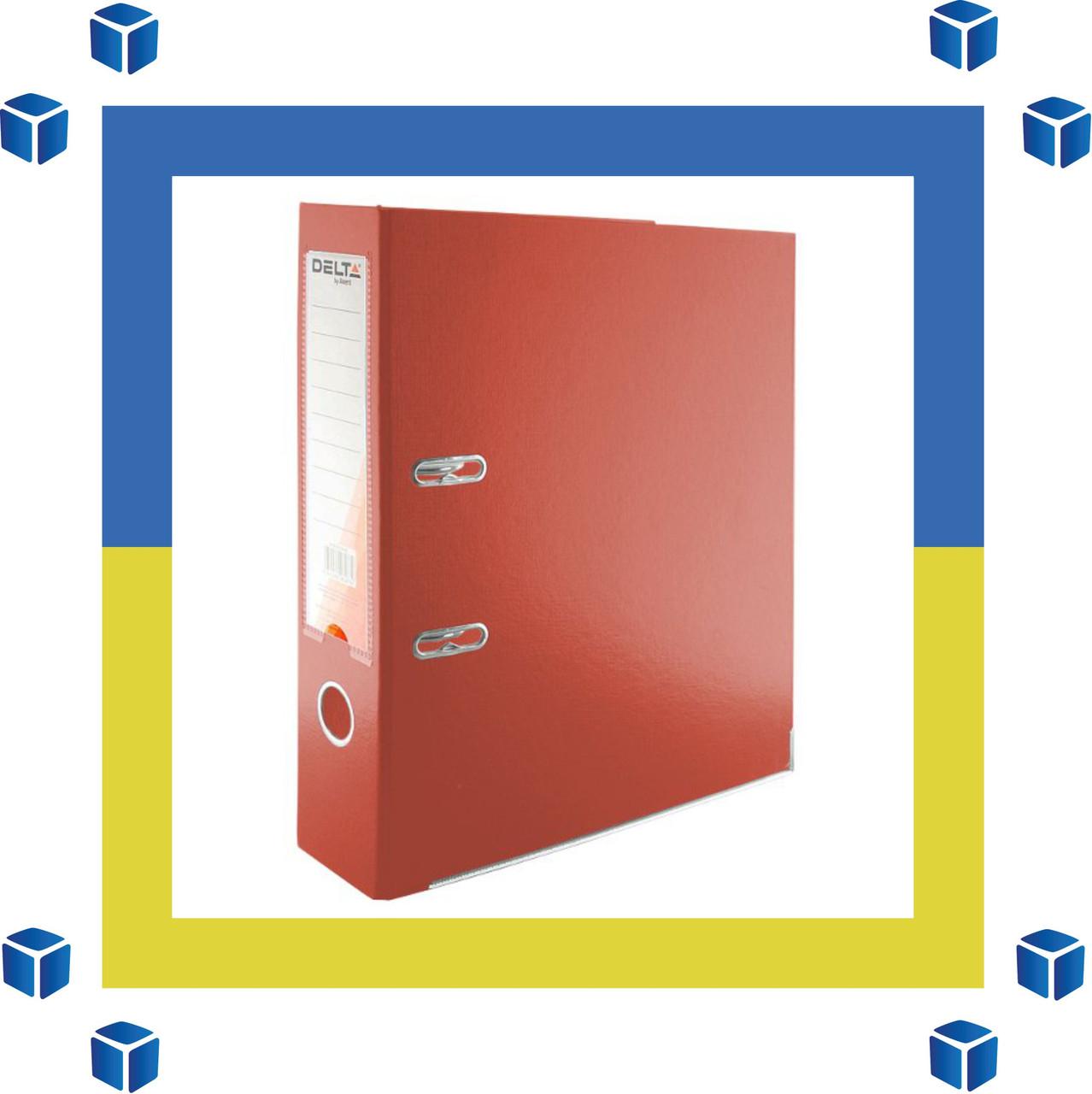 Папка - регистратор (сегрегатор) А4/75 Delta (красная-односторонняя)