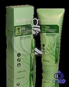 Пінка для вмивання з гіалуронової кислотою і алое Aloe Skincare Step 1 100г