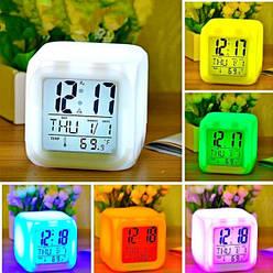 Годинник нічник Хамелеон Color Changing Clock з підсвічуванням