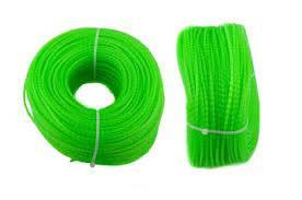 Волосінь мотокоси Ø2,7mm, 100 метрів косичка, зелена