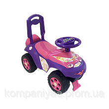 Дитяча машина-толокар зі спинкою 0141/03 (Фіолетовий)