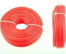Волосінь мотокоси Ø3,0mm, 100 метрів косичка, червона