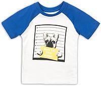 Белая детская футболка для малыша 9-12 мес, 74-80 см