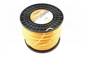 Волосінь мотокоси Ø5,0mm, 200 метрів кругла, жовта