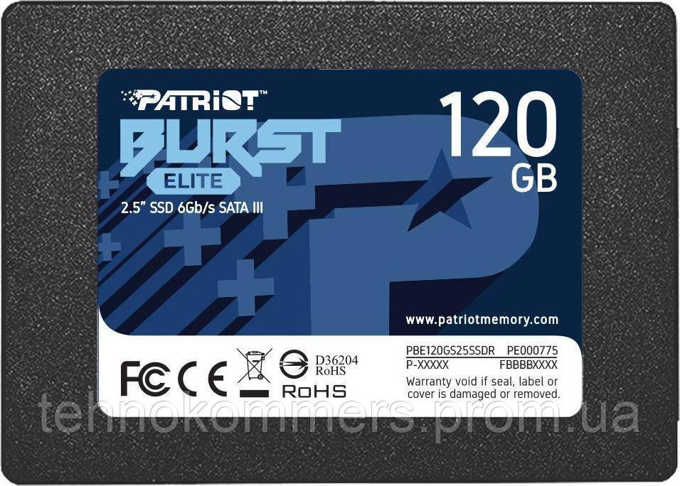 "Накопичувач SSD Patriot Burst Elite 120GB 2.5"" 7mm SATAIII TLC 3D 120GB 2.5"" SATAIII TLC"