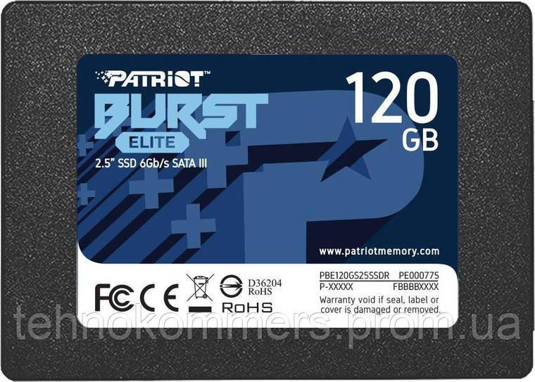 "Накопичувач SSD Patriot Burst Elite 120GB 2.5"" 7mm SATAIII TLC 3D 120GB 2.5"" SATAIII TLC, фото 2"