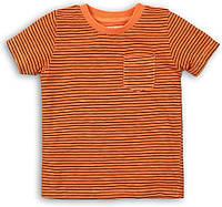 Оранжевая детская футболка для мальчика 4-5 лет, 104-110 см