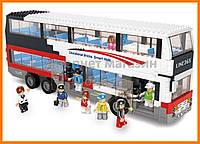Конструктор Sluban Автобус: Двухэтажный автобус, 740 деталей арт. M38-B0335