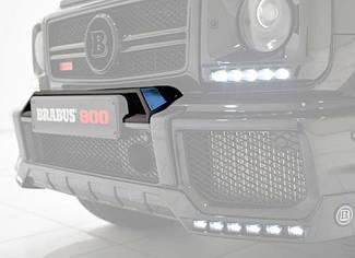 """Накладка на передний бампер """"домик"""" для Mercedes G-class W463 стиль Brabus (стекловолокно)"""