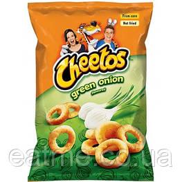 Cheetos Green Onion Кукурузные чипсы со вкусом зелёного лука 145g