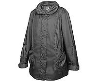 Куртка демисезонная женская большого размера р68, р70 серая длинная весна осень Mirage