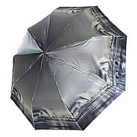 """Женский зонт, полуавтомат с изображениями городов, сатин от фирмы """"Calm Rain"""", 483-2, фото 1"""