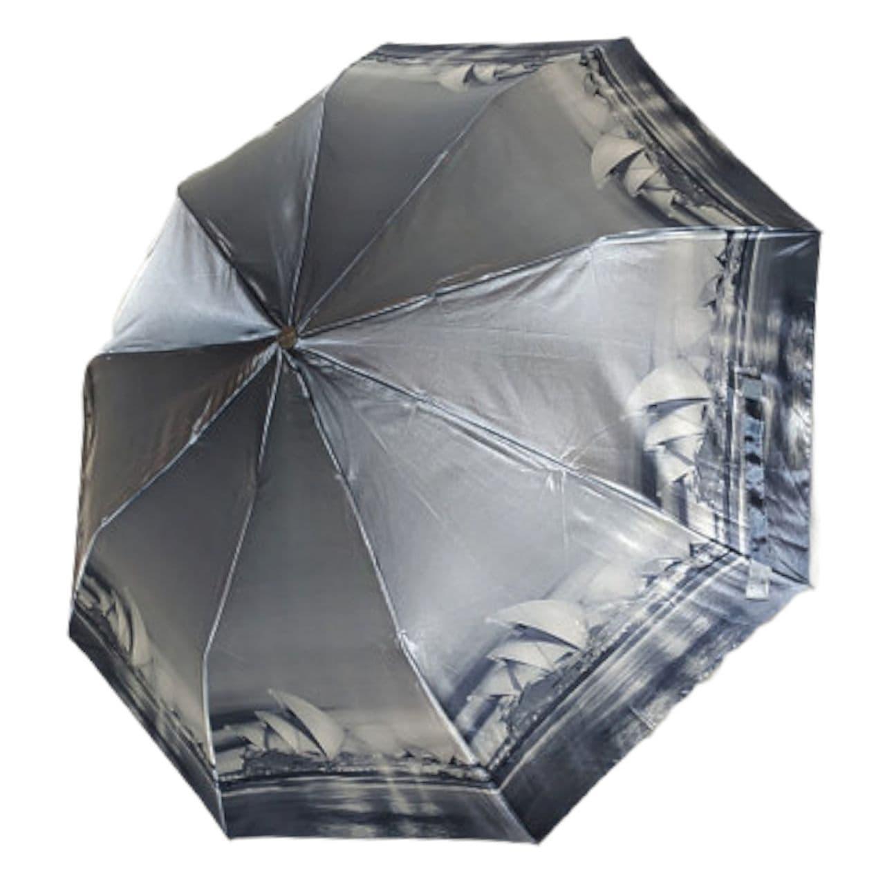 """Женский зонт, полуавтомат с изображениями городов, сатин от фирмы """"Calm Rain"""", 483-2"""
