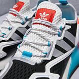 Чоловічі кросівки adidas ZX 2K Boost Blue whate, фото 2