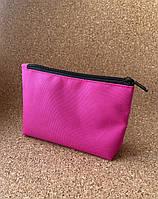 Розовая косметичка с нанесением логотипа корпоративный подарок