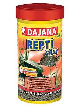 Корм в гранулах для всіх видів водяних черепах Dajana REPTI Gran 250 мл/110 г