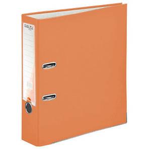 Папка - регистратор (сегрегатор) А4/75 Delta (оранжевая-односторонняя), фото 2