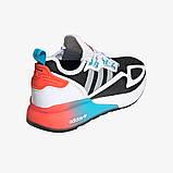 Чоловічі кросівки adidas ZX 2K Boost Blue whate, фото 9