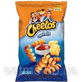 Cheetos Spirals Кукурузные чипсы со вкусом сыра и кетчупа 145g