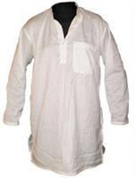 Курта белая короткий/длинный рукав