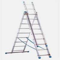 Лестница трехсекционная универсальная алюминиевая