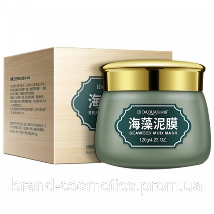 Очищающая матирующая маска для лица BIOAQUA Seaweed Mud Mask на основе экстракта морских водорослей 120 г