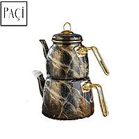 Чайник подвійний, турецький Paçi Elite Class. Чайник для турецького чаю. Емальований набір з двох чайників.