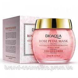 Гелевая маска для лица BIOAQUA Rosepetal Mask Natural Plant Rosehydrating Petals Mask с лепестками роз 120 г