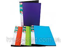 Папка А4 с 10 файлами Optima двухцветная, ассорти