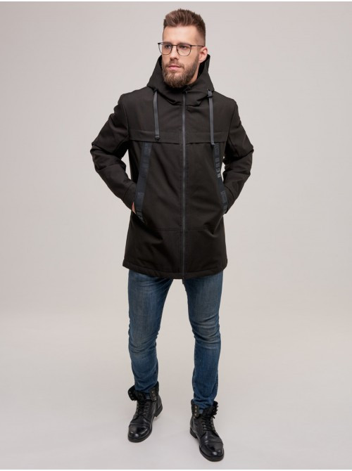 Мужская демисезонная куртка D-02  Черный